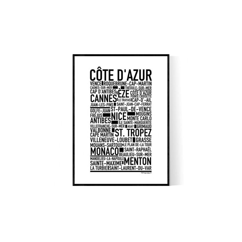 Cote D'Azur Poster