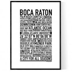 Boca Raton Poster