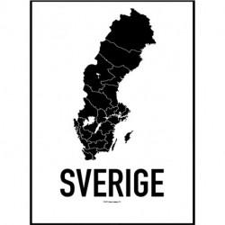 Sweden Map Poster
