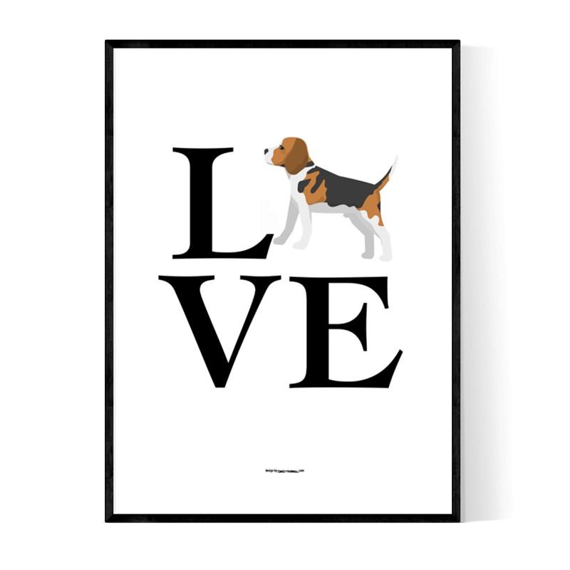 Love Beagle Poster