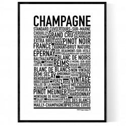 Champagne Addict Poster