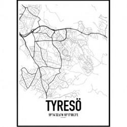 Tyresö Map Poster