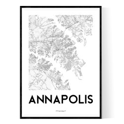 Annapolis Map Poster