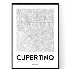 Cupertino Map Poster