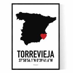 Torrevieja Heart Poster