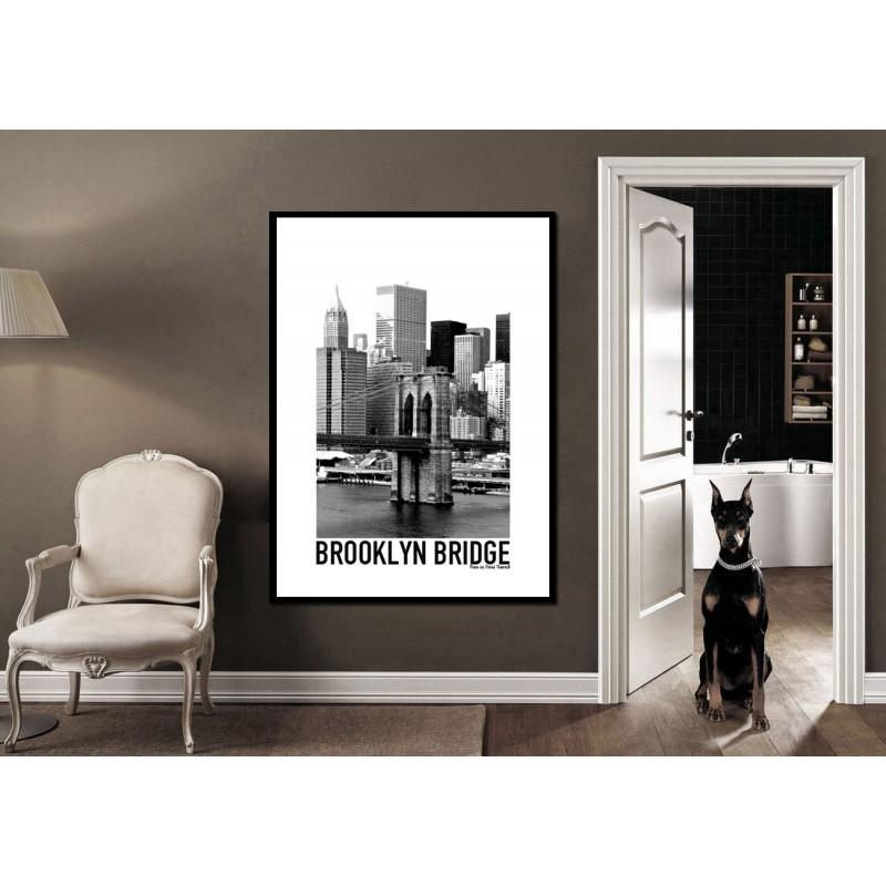 brooklyn bridge poster find your posters at wallstars online shop today. Black Bedroom Furniture Sets. Home Design Ideas