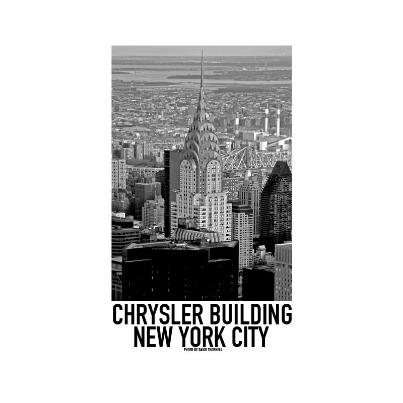 chrysler new york poster find your posters at wallstars. Black Bedroom Furniture Sets. Home Design Ideas