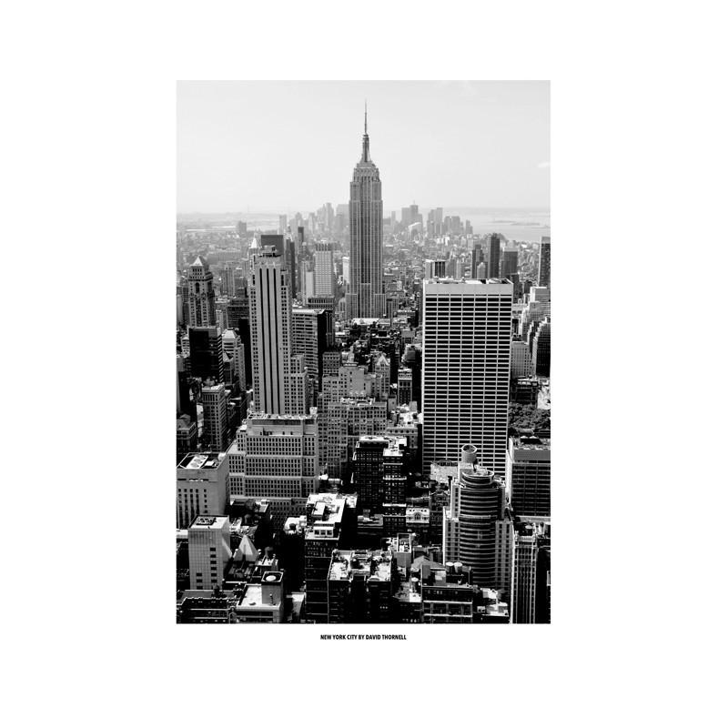Black white new york poster