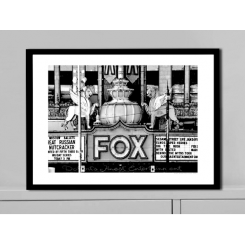 fox theatre detroit poster find your posters at wallstars online shop today. Black Bedroom Furniture Sets. Home Design Ideas