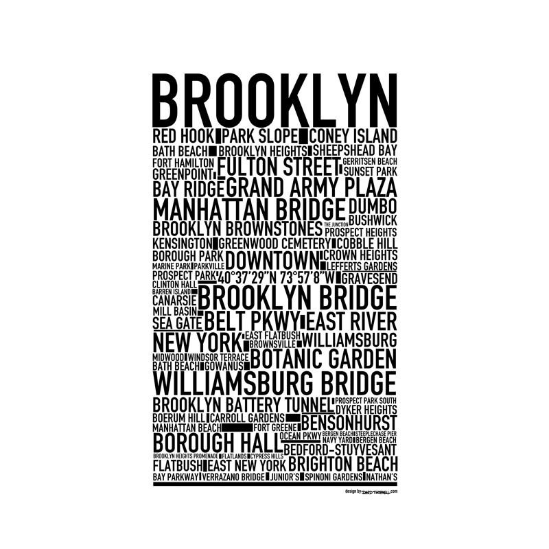 Kitchen Art America Brooklyn Ny: Brooklyn Poster. Find Your Posters At Wallstars Online