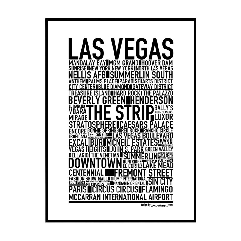 las vegas poster find your posters at wallstars online shop today. Black Bedroom Furniture Sets. Home Design Ideas