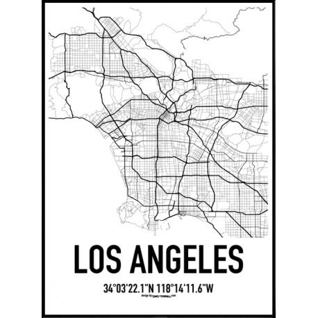 1877 Los Angeles Map Poster on living room photography html