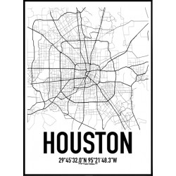 Houston Map Poster
