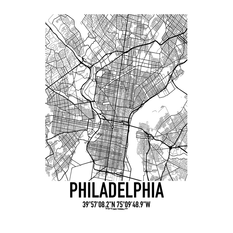 Philadelphia map poster find your posters at wallstars online shop philadelphia map philadelphia map freerunsca Gallery