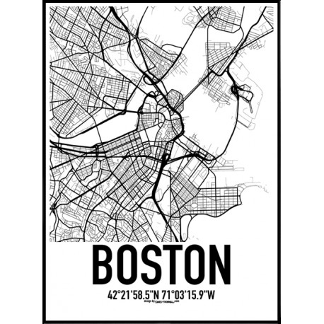 Boston Map Poster Find Your Posters At Wallstars Online Shop Today