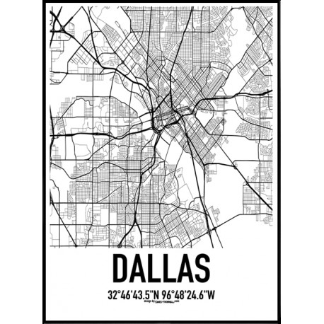 Dallas Map Poster Find Your Posters At Wallstars Online Shop Today