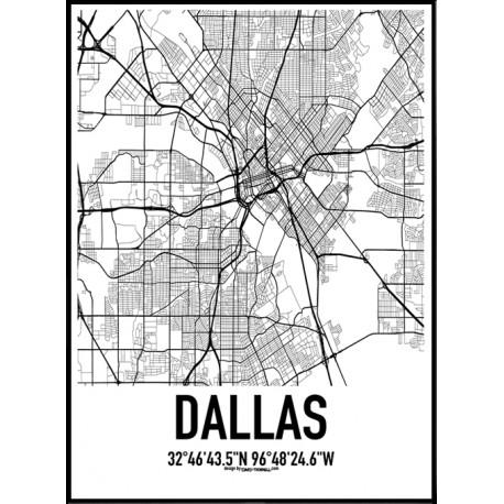 Dallas Map Poster