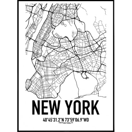 New York Map Poster Find Your Posters At Wallstars Online Shop Today