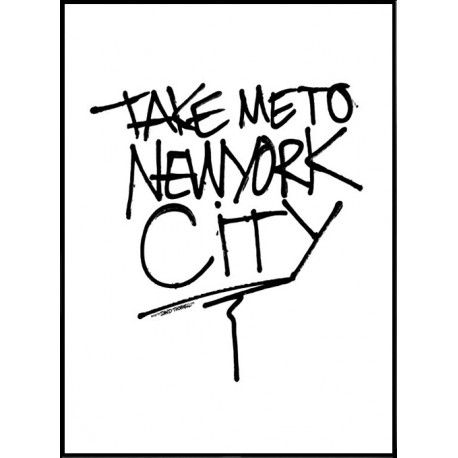 1344 Take Me To New York City Poster on living room photography html