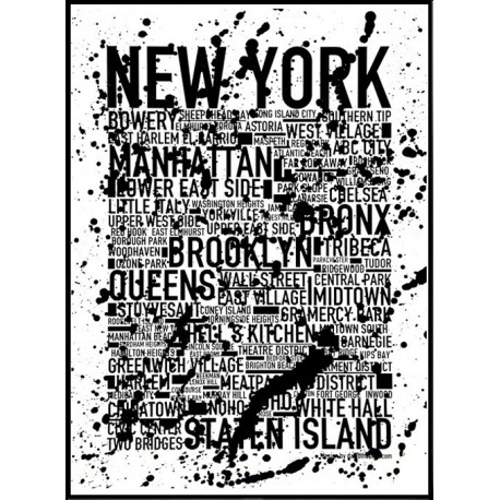 New York Splash Poster