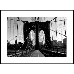 BK Bridge NYC Poster