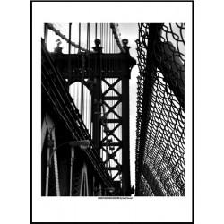 Man Bridge NYC Poster