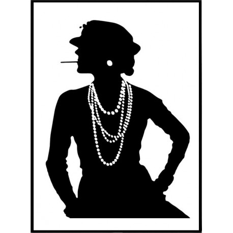 coco chanel poster find your posters at wallstars online shop today. Black Bedroom Furniture Sets. Home Design Ideas