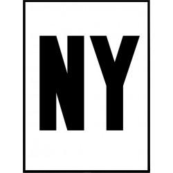 B&W New York Poster