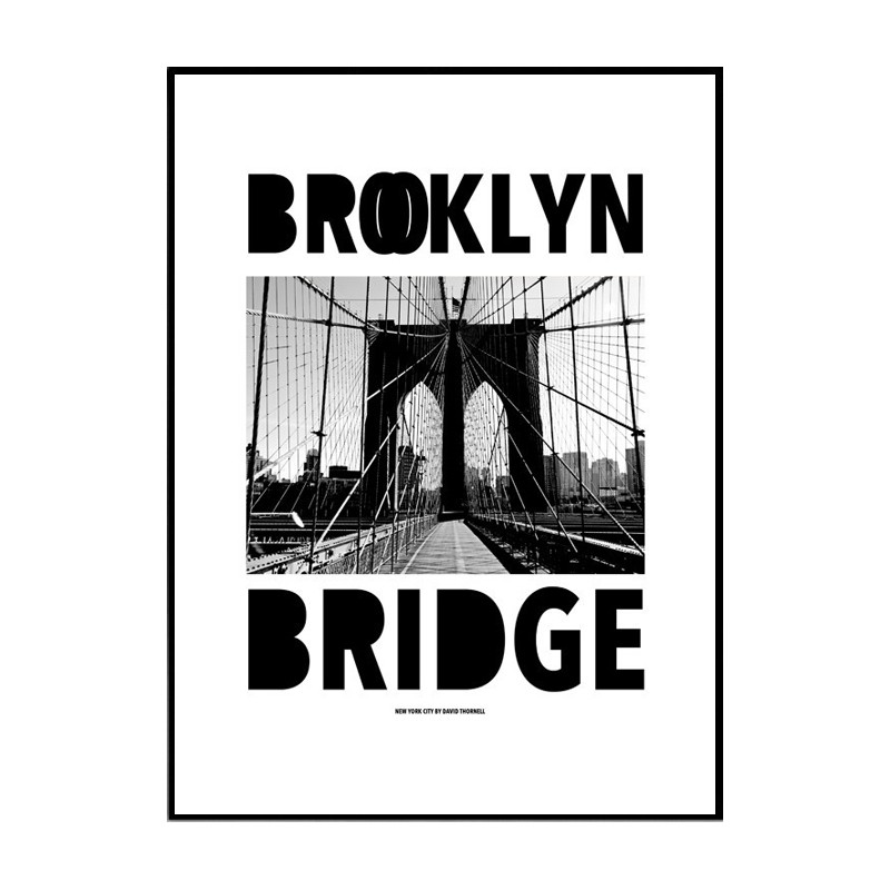 brooklyn bridge poster find your posters at wallstars online shop today. Black Bedroom Furniture Sets. Home Design Ideas