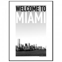 Miami Skyline Poster