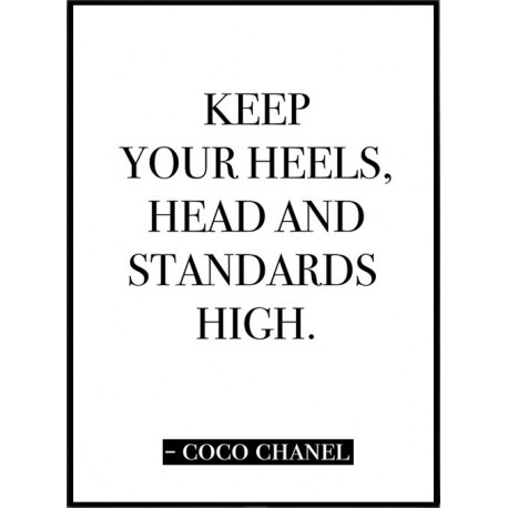 1541 Chanel Quote Poster on living room photography html