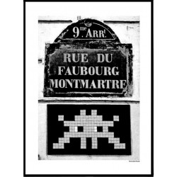 Paris Invader Poster
