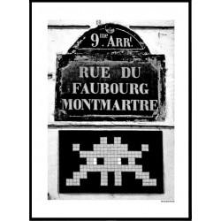 Paris Invader Poster