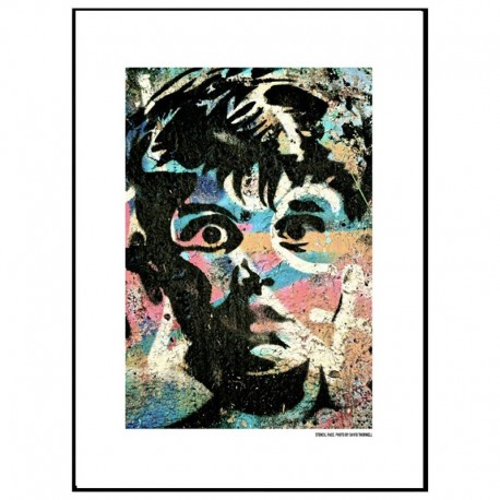 Stencil Face Poster