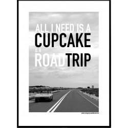 Cupcake & Roadtrip Poster