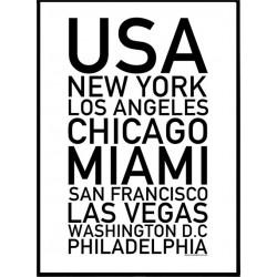 USA Cities Poster