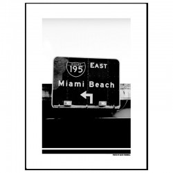 Miami Beach Sign Poster
