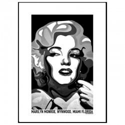 Marilyn Monroe Black Poster