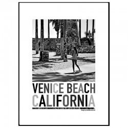 Venice Skate Girl Poster