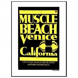 Venice Muscle Beach Poster