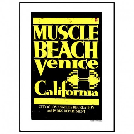 Venice Muscle Beach Poster