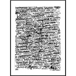50 States Tags Poster
