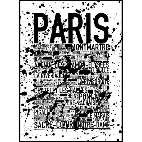 Paris Splash Poster