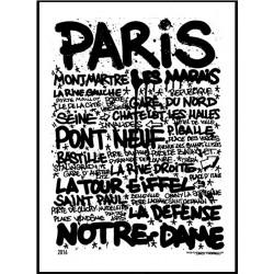 Paris Tags Poster