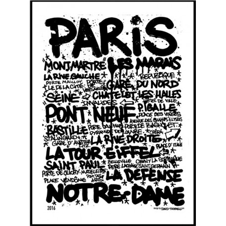 paris tags poster find your posters at wallstars online shop today. Black Bedroom Furniture Sets. Home Design Ideas