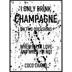 Champagne Splash Poster