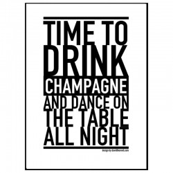 Champagne Night Poster