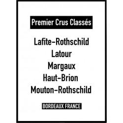 Bordeaux Wines Poster