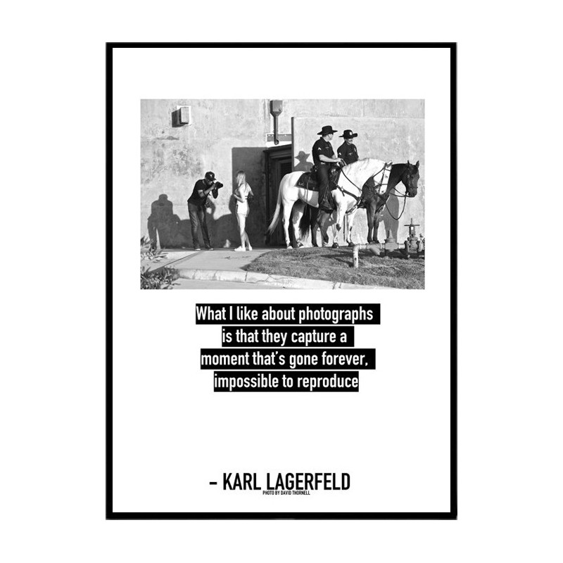 karl lagerfeld poster find your posters at wallstars. Black Bedroom Furniture Sets. Home Design Ideas