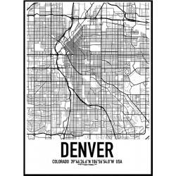 Denver Map Poster. Find your posters at Wallstars Online. Shop today!